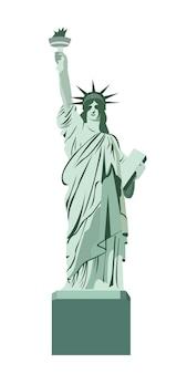 Statue de la conception de vecteur de liberté