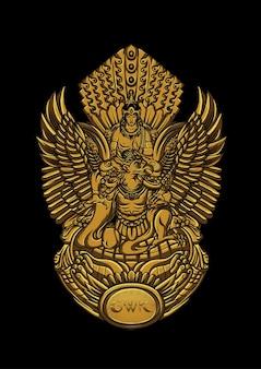 Statue du dieu vishnu bali