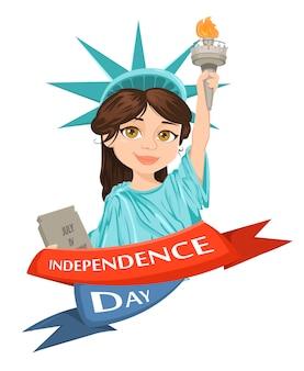 Statue de la liberté. le 4 juillet. le jour de l'indépendance