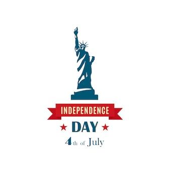 Statue de la liberté. le jour de l'indépendance.