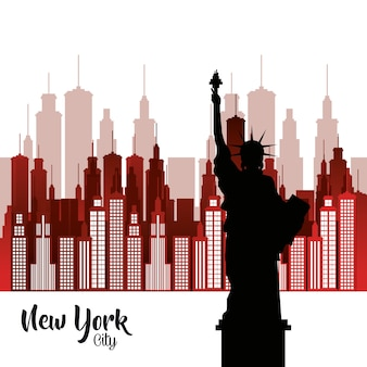 Statue de la ville de new york de la scène de la liberté