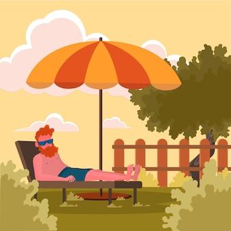 Staycation dans l'arrière-cour