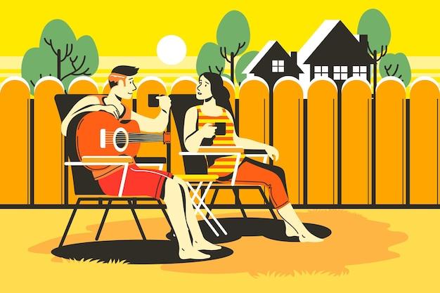 Staycation dans la cour