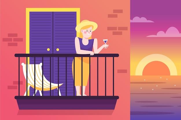 Staycation à la maison balcon concept