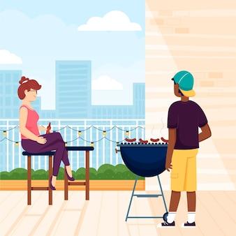 Staycation sur un thème de terrasse sur le toit
