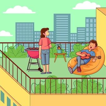 Staycation sur le toit-terrasse
