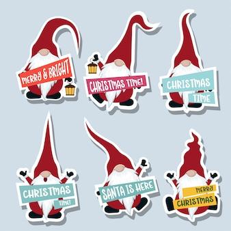 Stckers de Noël avec les gnomes