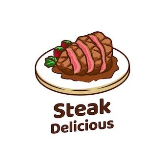 Steak barbecue sur pied grillé feu party