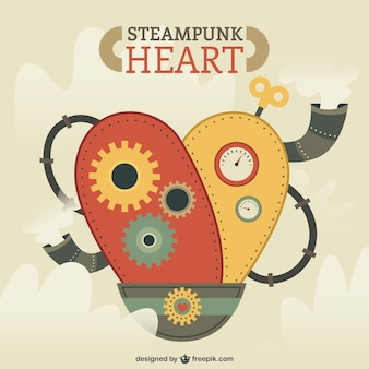 Steampunk coeur illustration