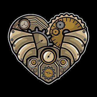 Steampunk coeur