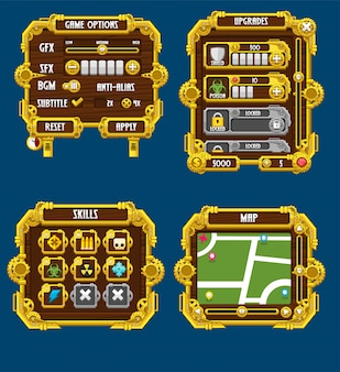 Steampunk game windows