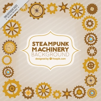Steampunk machines fond