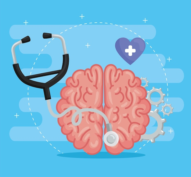 Stéthoscope avec cerveau