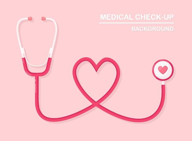 Stéthoscope médical sur fond. santé, recherche sur le concept de coeur.
