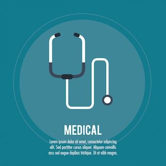 Stéthoscope médical de santé