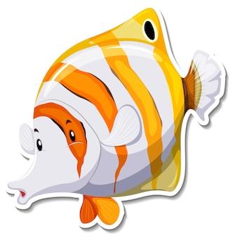 Sticker animal marin larme poisson-papillon