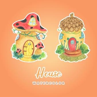 Sticker aquarelle maison