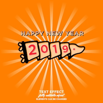 Sticker bonne année 2019