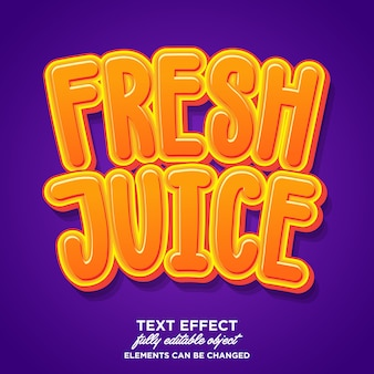 Sticker de jus de fruits frais dessin animé ludique