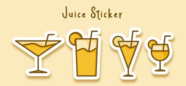 Sticker vin paille verre