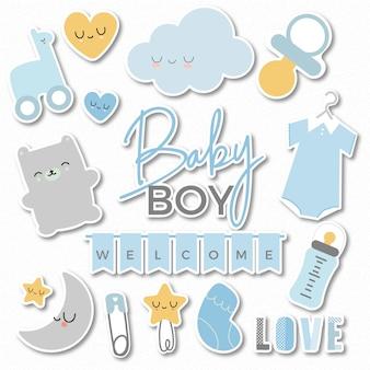 Stickers bienvenue baby boy