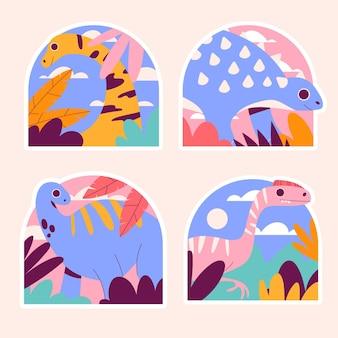 Stickers dinosaures naïfs