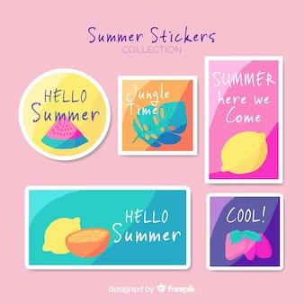 Stickers été dessinés à la main
