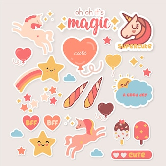 Stickers de paquet mignon
