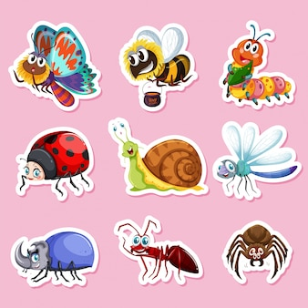 Stickers pour différents bugs