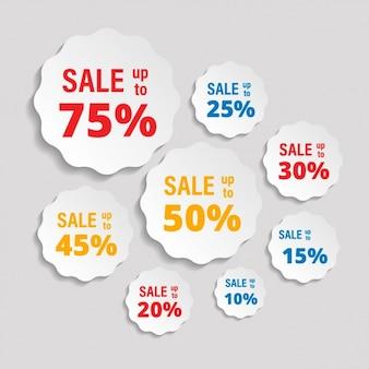 Stickers pour escomptes sur ventes