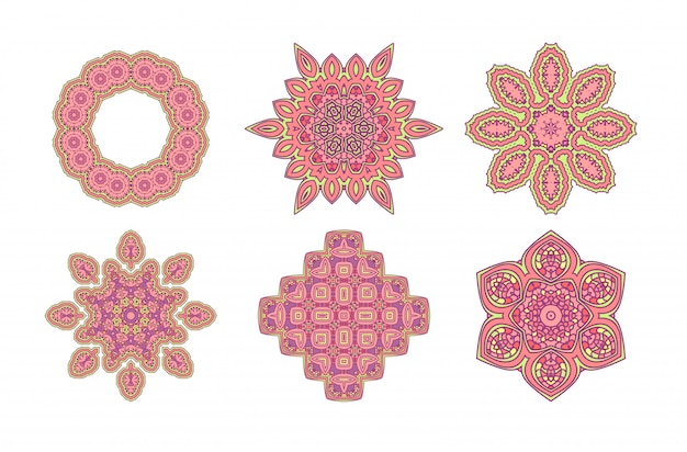 Stikers de dentelle rose