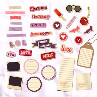 Stikers girly pack