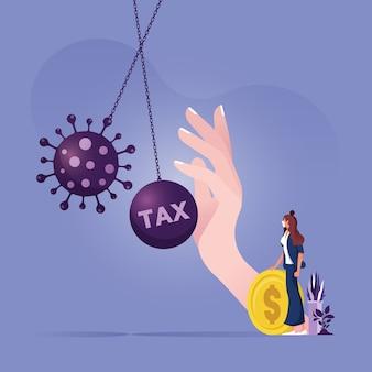 Stimulation économique pour aider à protéger l'entreprise du concept de faillite