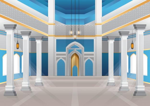 Stock de grand bâtiment intérieur de la mosquée bleue.