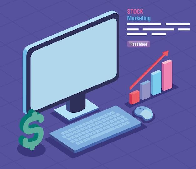 Stock d'icônes financières