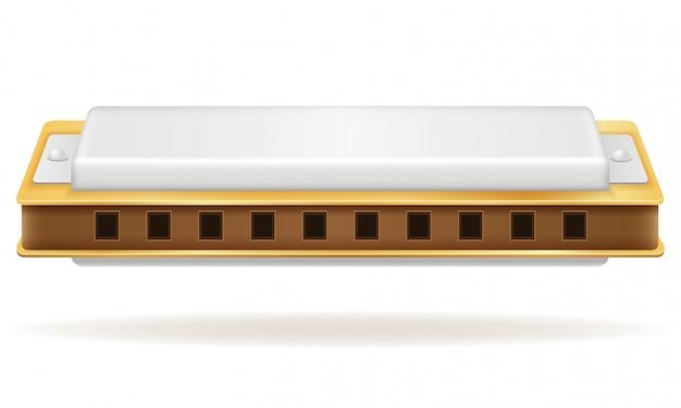 Stock d'instruments de musique à vent harmonica.