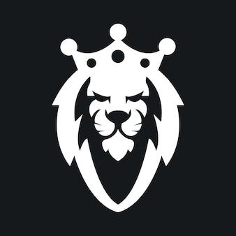 Stock vector illustration de logo de mascotte de roi lion professionnel.
