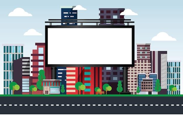 Stock vector panneaux urbains vides