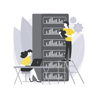 Stockage de big data. architecture big data, analyse en temps réel, serveur de base, infrastructure de disque haute capacité, réseau de stockage.