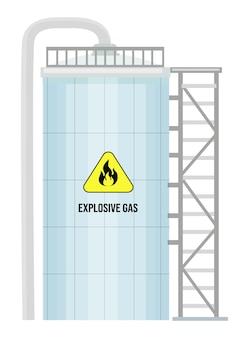 Stockage de carburant de conteneur cylindrique de gaz oxygène