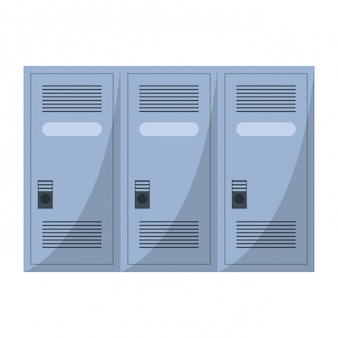 Stockage de casiers de gymnastique isolé