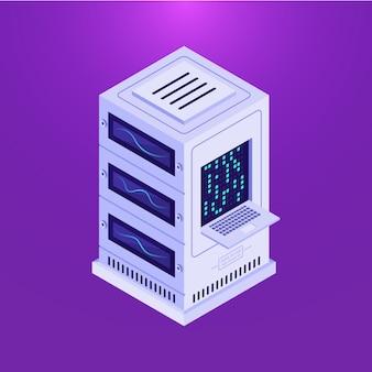 Stockage de données sur violet