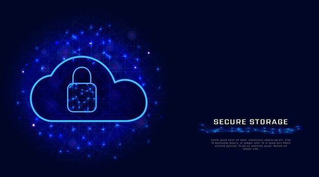 Stockage en ligne. la cyber-sécurité.