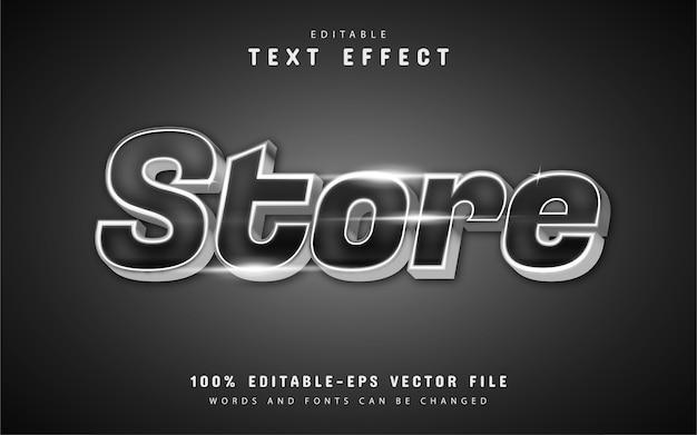 Stocker l'effet de texte avec la couleur argentée