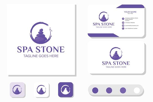 Stone rock balancing spa et bien-être et carte de visite