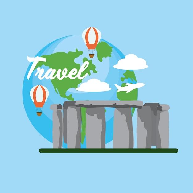 Stonehenge voyage avec des ballons à air amusants