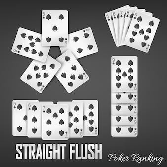 Straight flush poker classement des ensembles de casino