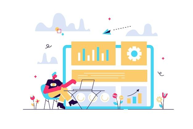 Stratège en marketing numérique travaillant avec les technologies et les médias numériques.