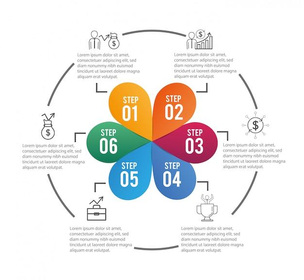 Stratégie commerciale infographique avec lorem ipsum
