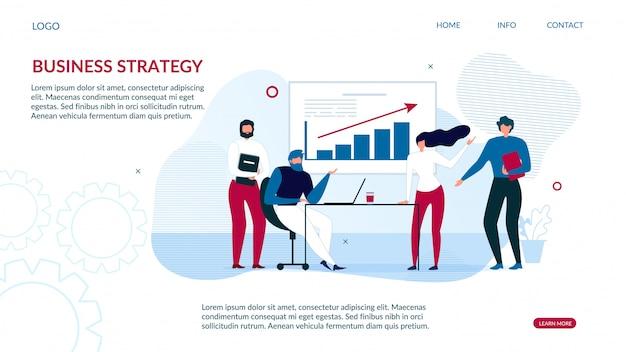 Stratégie commerciale de la page de destination pour l'analyse des données